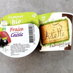yaourt fraise cassis adelle